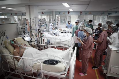 La UCI del Hospital de M'Boi Mirim, en un suburbio de São Paulo, el pasado viernes 12 de marzo.