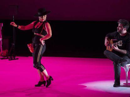 La bailaora Rocío Molina, en su actuación en Pamplona.