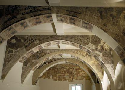 Pinturas de la sala capitular del monasterio de Sigena (Huesca), actualmente en el MNAC
