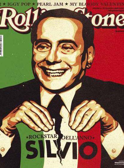Portada en la que aparece el político en el número de diciembre de la edición italiana