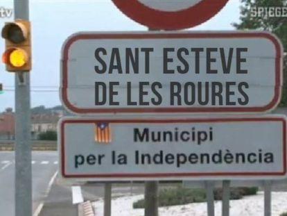 Imagen tuiteada por la cuenta del Ayuntamiento de Sant Esteve de les Roures.