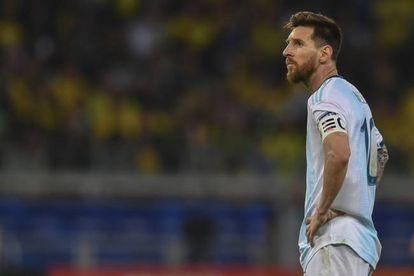 Lionel Messi durante un partido con la selección argentina.