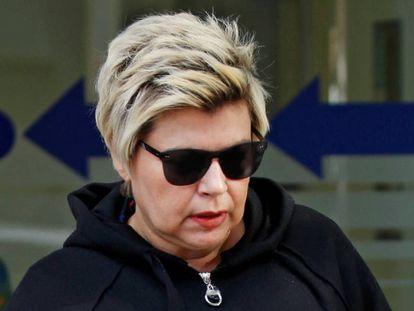 Terelu Campos, tras una revisión hospitalaria, el 29 de octubre de 2018 en Madrid.