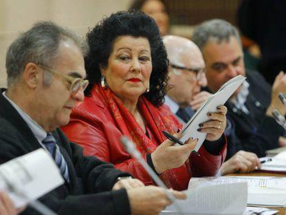 Consuelo Ciscar, en enero en una reunión del Consell Valencià de Cultura.