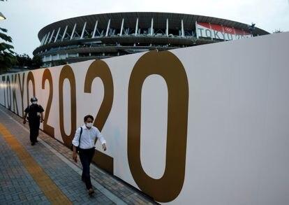 El Estadio Nacional de Tokio, este miércoles.