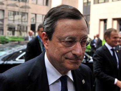 Mario Draghi, durante la cumbre europea de la semana pasada.