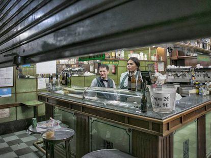 Froi y Carmen, el pasado 31 de agosto, día en que cerró el Bracafé.