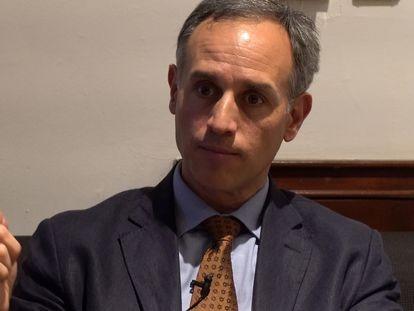 El subsecretario de Salud en México, Hugo López Gatell, durante la entrevista.