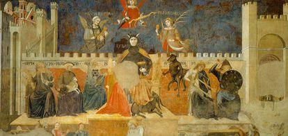 'La Alegoría del buen y mal gobierno', obra mural de Ambrogio Lorenzetti.