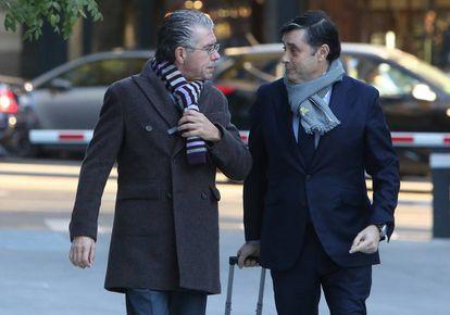 Francisco Granados y su abogado, Javier Vasallo, en noviembre de 2017.