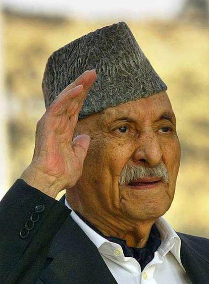 Zahir Shah, ex rey de Afganistán, en una imagen de 2004.