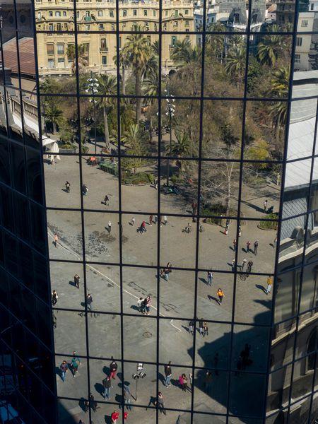 Plaza de Armas de Santiago de Chile.
