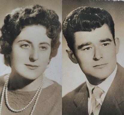 Agustina Cañamero y Pascual Pérez, en su juventud.