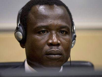 Dominic Ongwen, durante una comparecencia ante el Tribunal Penal Internacional, en La Haya, en una imagen de archivo.