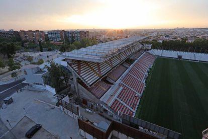 El Estadio de Vallecas, donde el Rayo Vallecano juega sus partidos de Liga como local.
