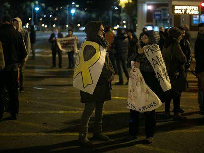 Manifestantes en la Meridiana de Barcelona, en una imagen de archivo.