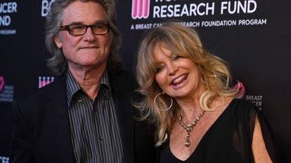 BEVERLY HILLS, CALIFORNIA - FEBRUARY 28: Kurt Russell and Goldie Hawn attend The Women's Cancer Research Fund's An Unforgettable Evening Benefit Gala at the Beverly Wilshire Four Seasons Hotel on February 28, 2019 in Beverly Hills, California. (Photo by Frazer Harrison/Getty Images)