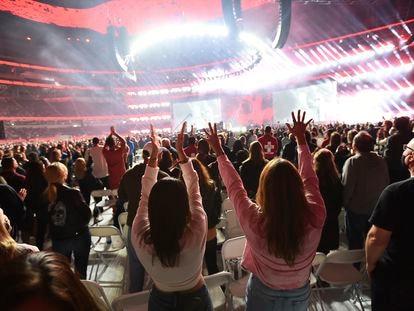 El público presencial del concierto  Vax Live estuvo compuesto por sanitarios y trabajadores esenciales.