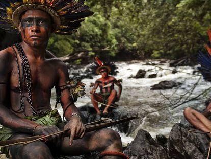 Indígenas Asurini do Tocantins, que viven en la región entre los ríos Xingu y Tocantins (en la Amazonia brasileña).