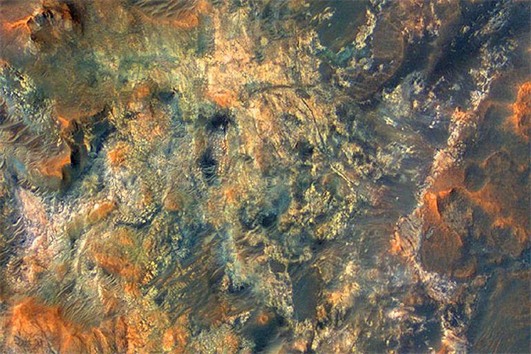 Imagen tomada de la superficie de Marte por la sonda de la Nasa que explora el planeta rojo