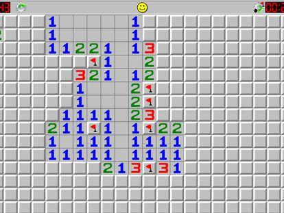 Captura de pantalla del buscaminas.