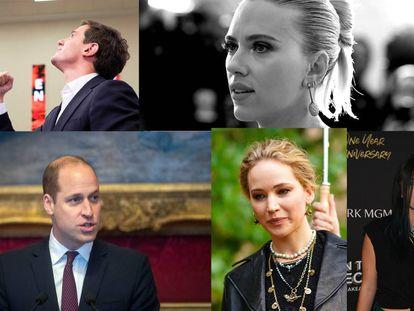 Albert Rivera, Scarlett Johansson, El príncipe Guillermo, Jennifer Lawrence y Bella Thorne, hackeados.
