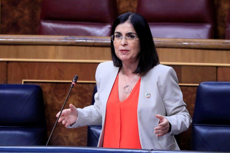 La ministra de Política Territorial y Función Pública, Carolina Darias, en el Congreso.