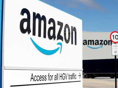 Imagen de un centro logístico de Amazon en Darlington (Reino Unido), el pasado septiembre.