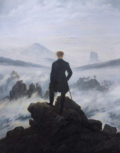 'El caminante sobre el mar de nubes' (1817), de Caspar David Friedrich.