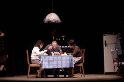 Representación en Madrid de 'Panorama desde el puente' en 1980 con José Bódalo.