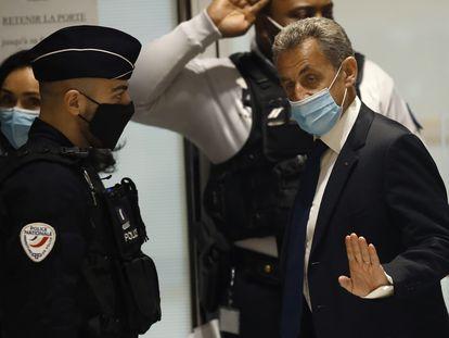El expresidente francés Nicolas Sarkozy, a su llegada a un tribunal de París el pasado 1 de marzo.