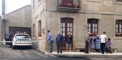 El lugar donde se ha producido el crimen este viernes en Moraña (Pontevedra).