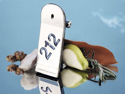"""El frasco de 212 Heroes tiene forma de tabla de 'skate'. """"Perfeccionarlo requirió tres años y cientos de pruebas"""", afirma Carolina A. Herrera, directora creativa de belleza de la marca."""