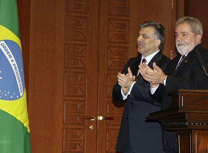 Lula, con el presidente turco, Abdullah Gül
