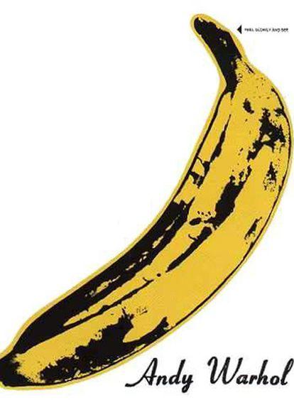 <b>Famosa banana que Warhol diseñó para la portada del debut de The Velvet Underground</b>