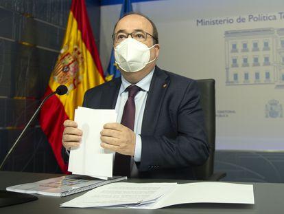 Miquel Iceta, en un acto en Madrid en mayo.