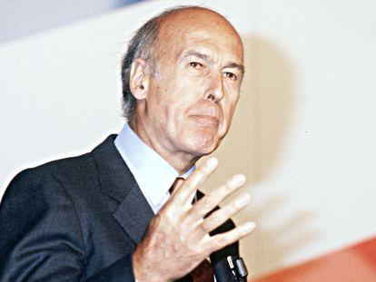 Valery Giscard d'Estaing, durante un acto en Vincennes en 1982.