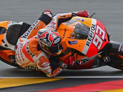 Márquez, en el Gran Premio de Alemania