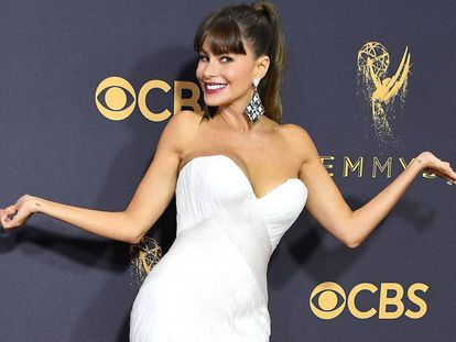 Sofía Vergara, en la alfombra roja de los premios Emmy.