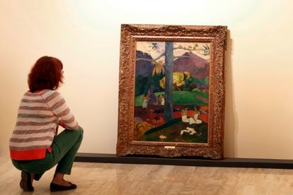 Exposición 'Gaugin, viaje a lo exótico'. en el Museo Thyssen, en el que se expuso el cuadro 'Mata Mua', en 2012.