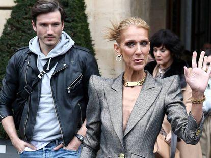Celine Dion el miércoles en París con Pepe Muñoz.