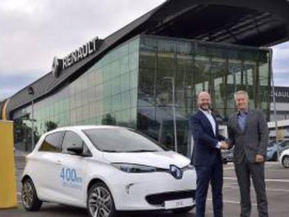 Presentación del nuevo servicio de coche compartido en Madrid.