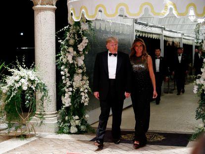 El matrimonio Trump el pasado fin de año en una fiesta en Mar-a-Lago.
