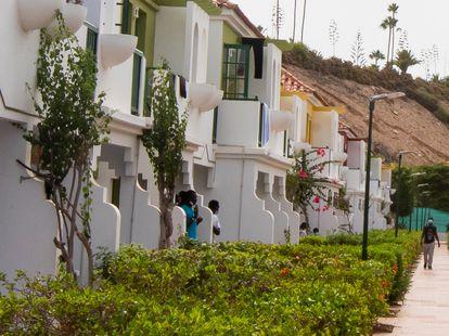 Apartamentos VistaFlor, complejo reconvertido en centro de refugiados, el verano pasado.