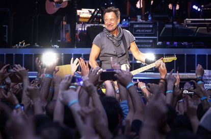 Bruce Springsteen en el Bernabéu en 2016.