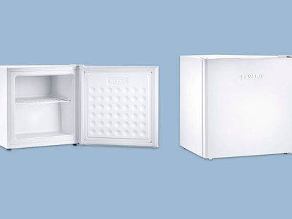Este minicongelador es el más vendido en Amazon y tiene 32 litros de capacidad.