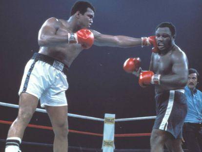 Muhammad Ali y Joe Frazier.