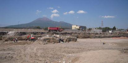 El terreno de 8.000 metros cuadrados cercano a Pompeya que albergaba las valiosas ruinas destruidas en una foto de 2009.