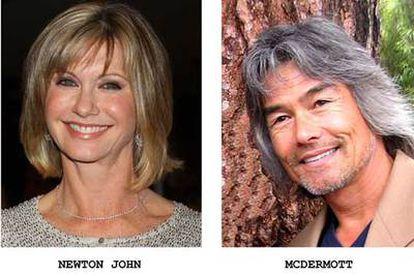 En la imagen, Olivia Newton-John y su pareja Patrick Kim McDermott.