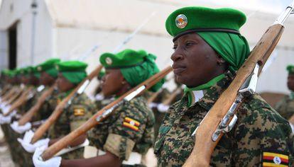 Mujeres del contingente ugandés desplegado en Somalia.